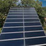 Solarenergie warmes Wasser