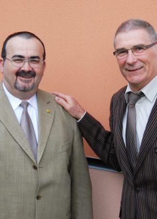 Ulrich Ziegler (links) löst Peter Wolfer