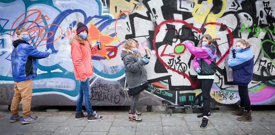 Graffiti-Prävention in der Frankfurter Naxos-Halle