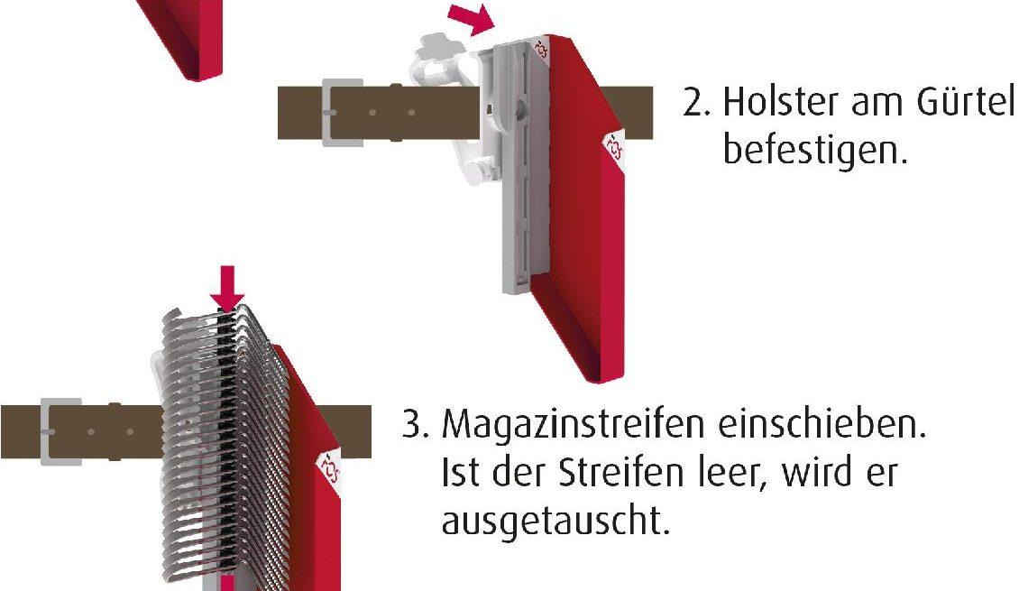 bauen dachklammer im holster